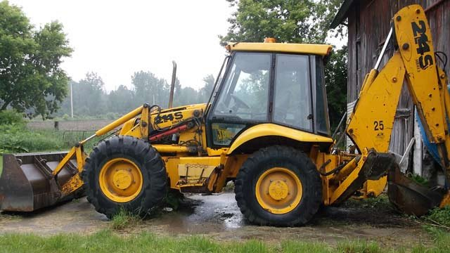 The backhoe in question.