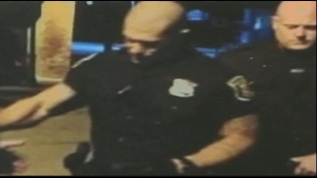 The officers in question are featured in cellphone footage captured on May 1.