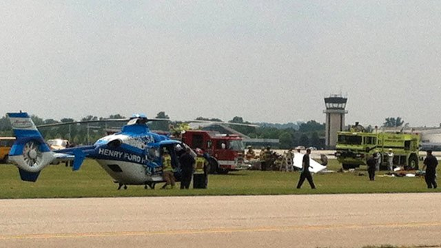 A ground view of the crash scene.
