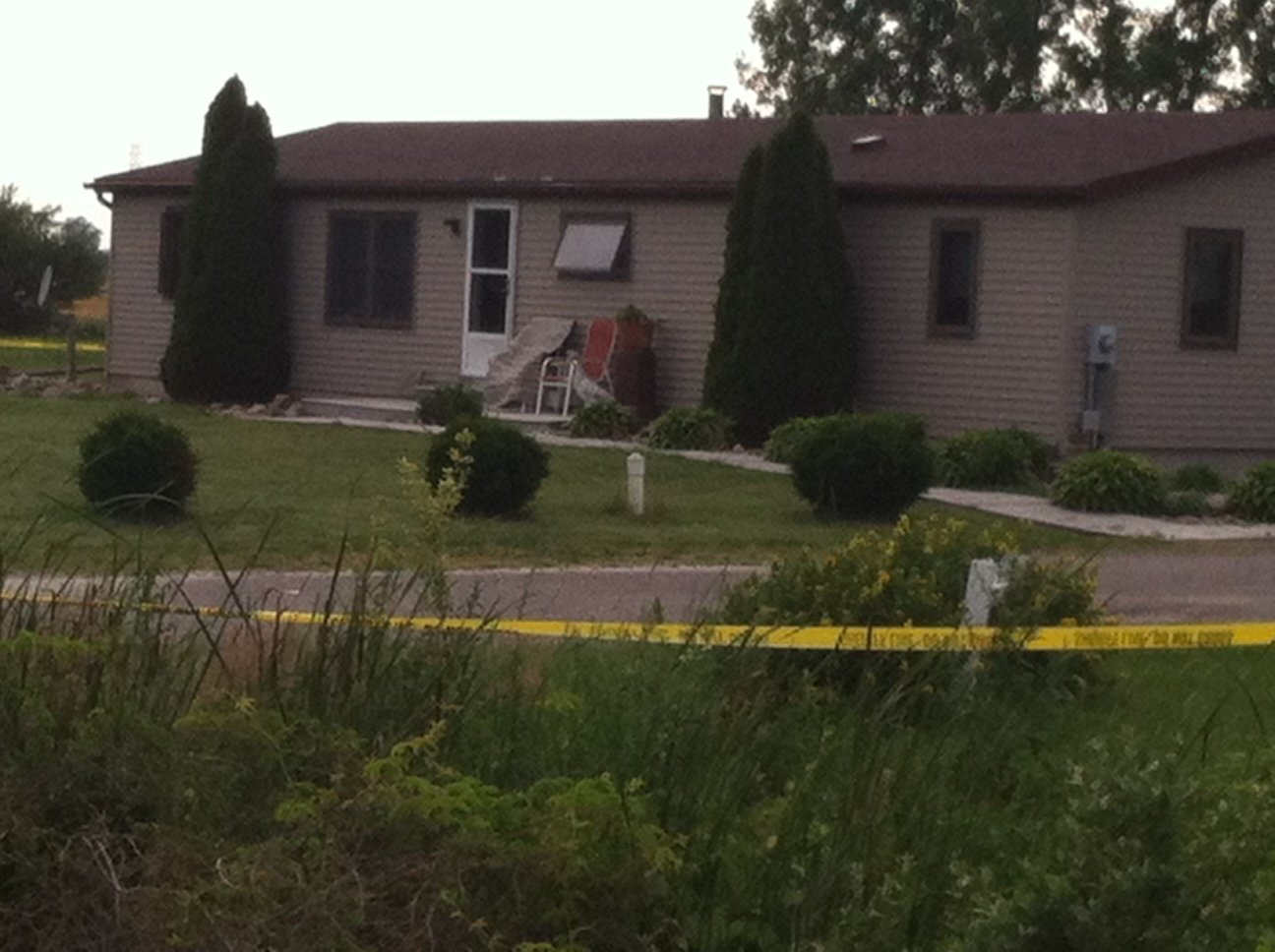 Photo from the Tuscola Co. crime scene.