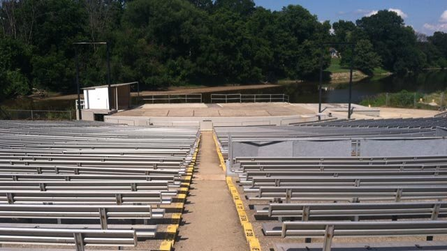 A view of the Chesaning Showboat Music Festival stage.