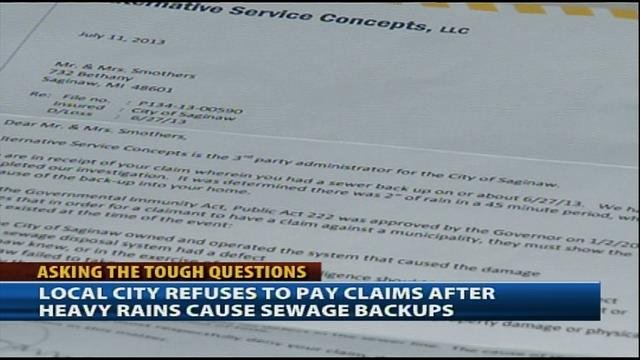 Letter sent to Tanja Smothers denying claim