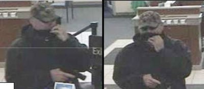 Police released security camera photos of the Ann Arbor bank robbery