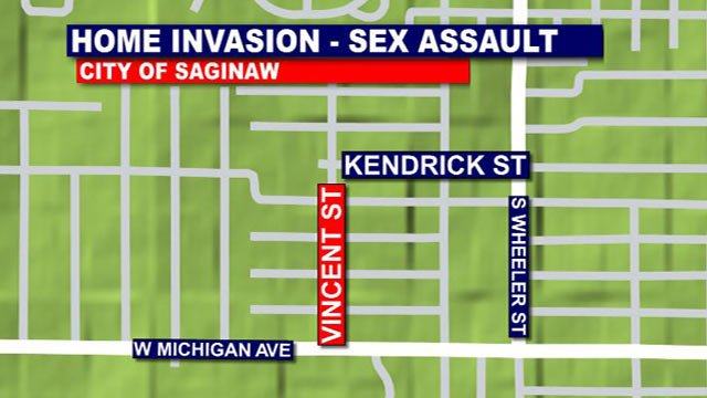 A map of the area where the home invasion took place.