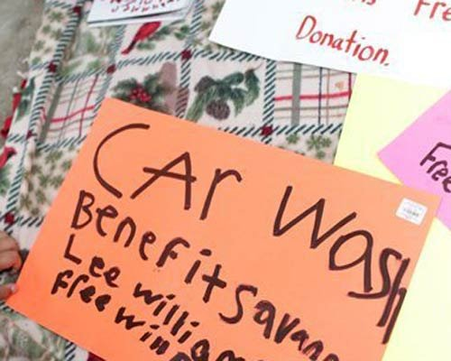 Car wash fundraiser held to raise money for new grave