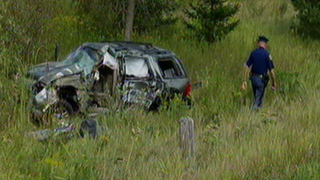 A view of the crash scene.