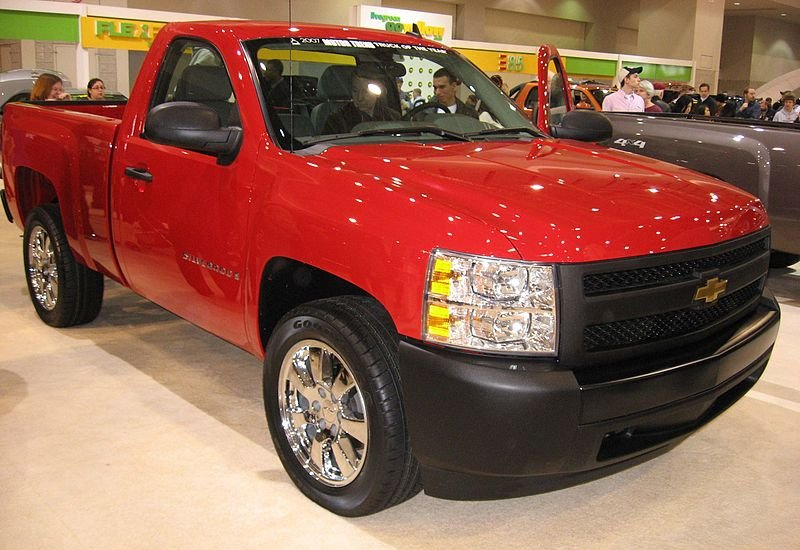 Police are looking for a truck similar to this one, but with a black topper over the bed.