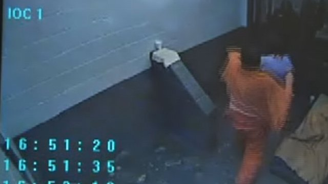 A still image from the attack video.