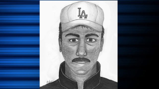 This police sketch shows the man the homeowner says was measuring the lawn.