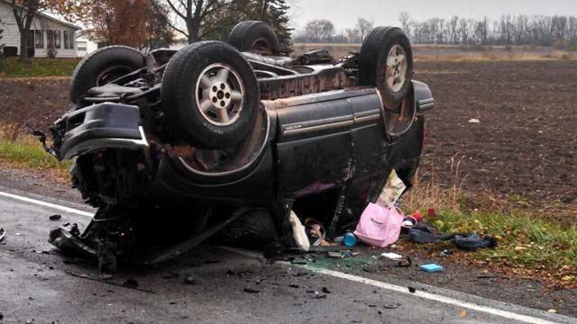 SUV driven by 16-year-old girl