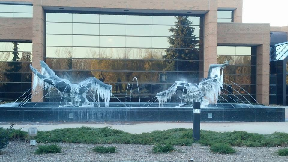 Sculpture at SVSU -- photo by Jon Essex.