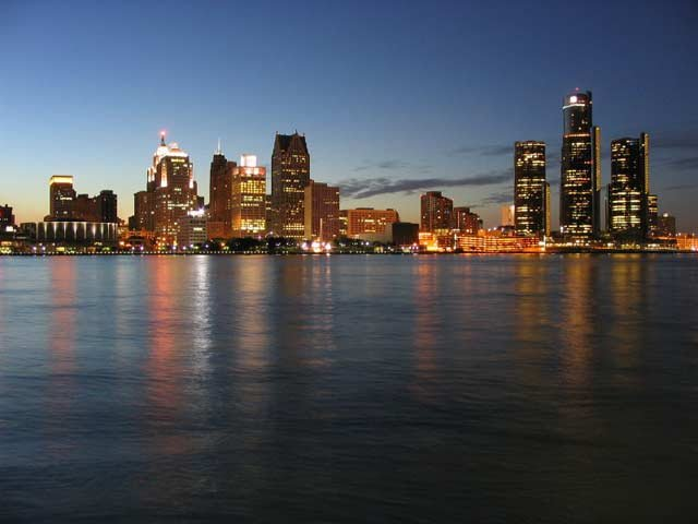 Detroit skyline- photo courtesy of WikiCommons