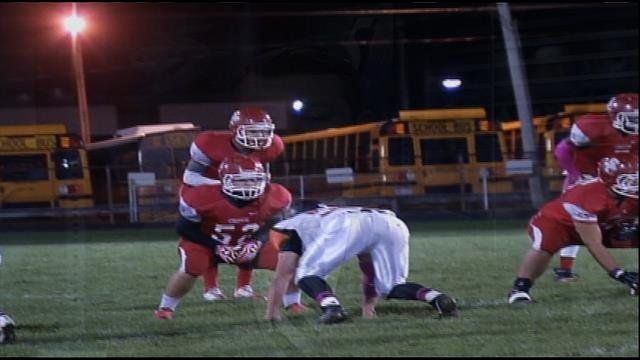 Fitch while playing football for Swartz Creek