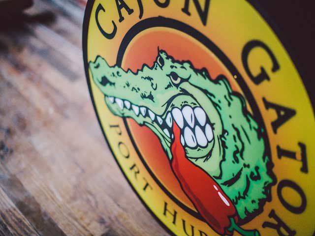 Cajun Gator restaurant sign, photo courtesy of Facebook