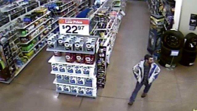 A photo showing the suspect from the surveillance video.