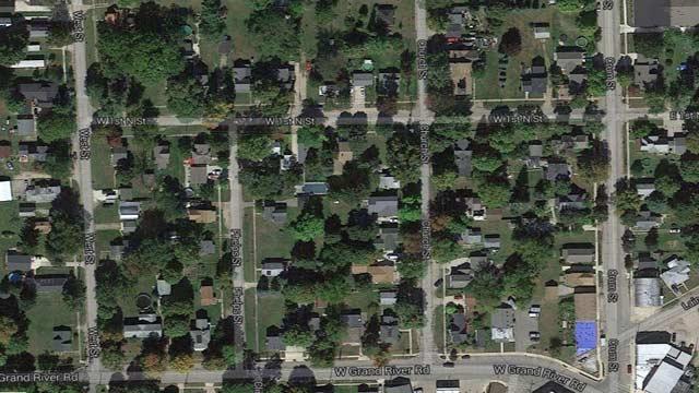 Map of scene, courtesy of Google Maps