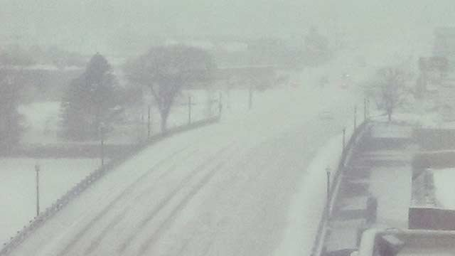 Whiteout conditions seen on many Mid-Michigan roadways
