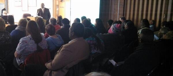 A look inside the meeting as Saginaw Schools Superintendent Carlton Jenkins presented his plan.