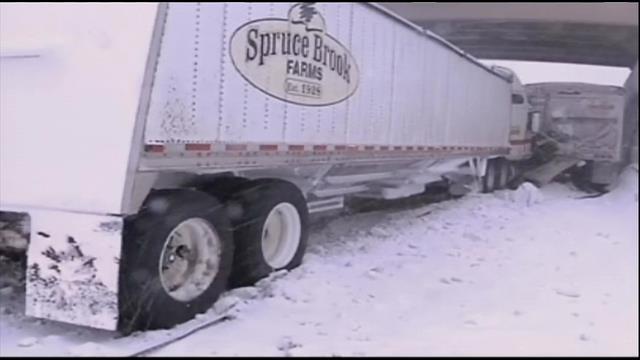 Scene of a crash in west Michigan