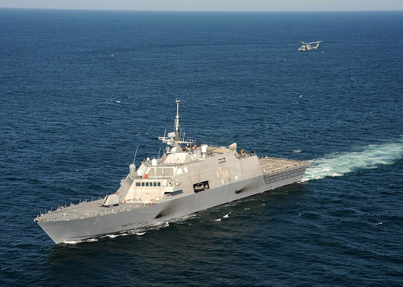 Shown in the image above is USS Detroit's sister ship, the USS Freedom.