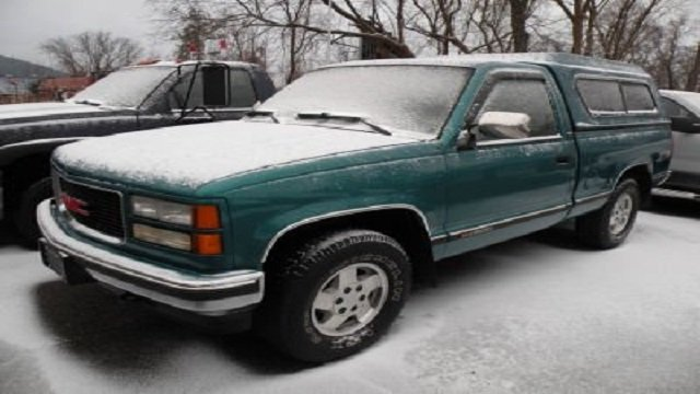 1995 Green Chevy Sierra Pick Up Truck, Michigan License Plate # CJA 2235