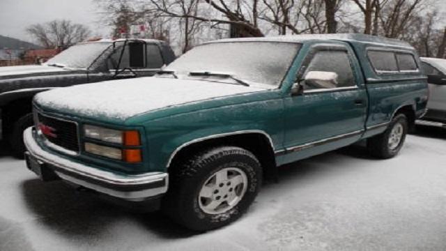1995 Green Chevy Sierra Pick Up Truck, Michigan License Plate # CJA 2235