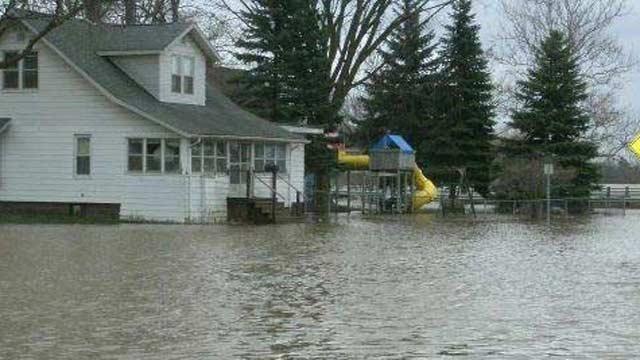 Flooding scene from Spring, 2013.