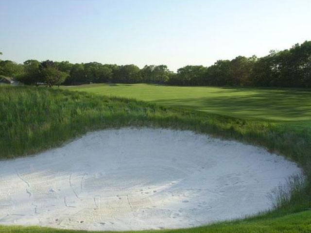 Not the exact golf course used in the nude photo shoot.