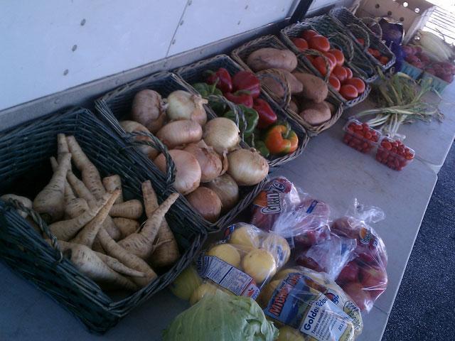 Farmers market food