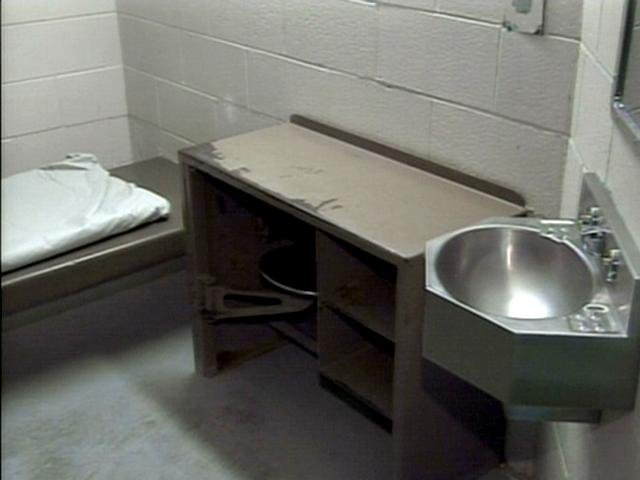 A stock photo of a Mid-Michigan jail cell.