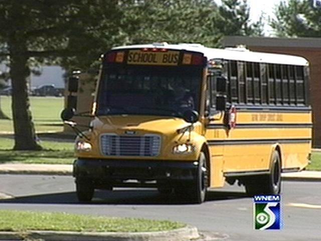 Not actual school bus involved in incident.
