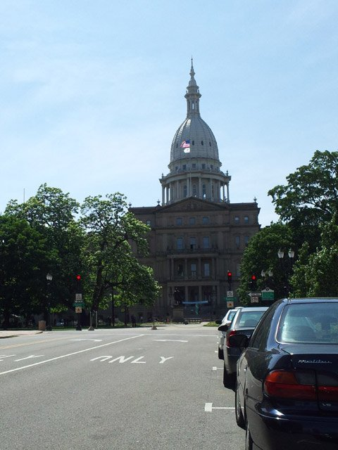 The capitol building in Lansing.