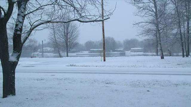 Snowy scene in mid-Michigan