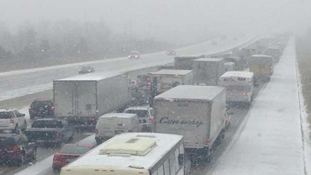 Backup on I-75 near Birch Run
