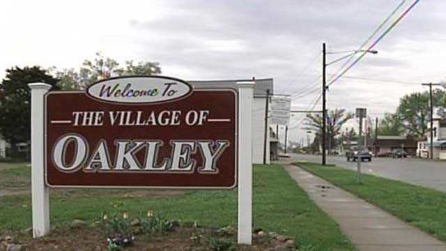Village of Oakley sign