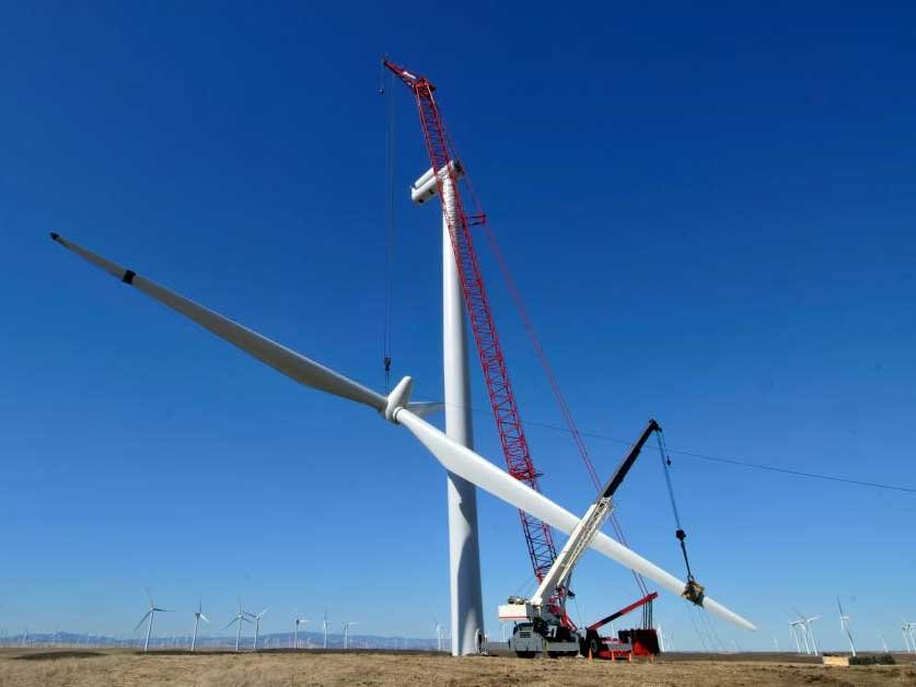A wind farm project being constructed.