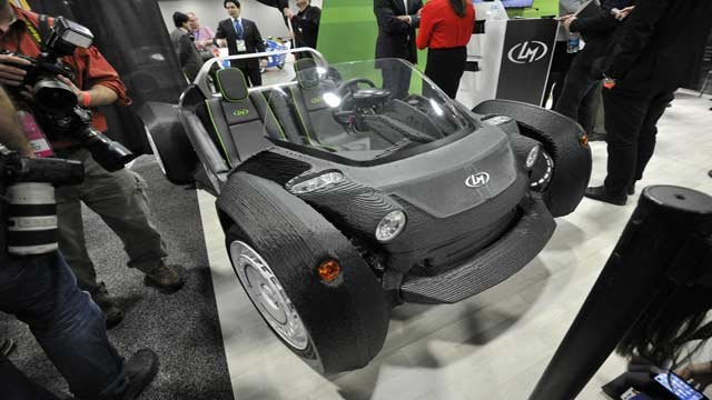 3D printed Strati from Local Motors. Photo courtesy NAIAS 2015 Facebook page