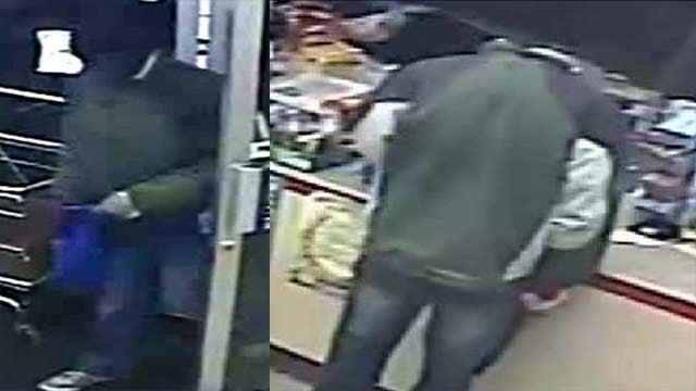 Surveillance photos of suspect