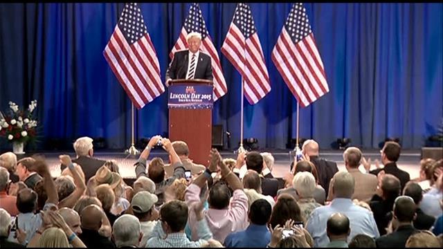 Donald Trump campaigns in Birch Run in August 2015. (Source: WNEM)