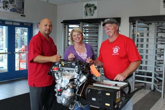 Engine Operations recently built its 1 millionth 1.4-liter turbo engine, which is used in the Chevrolet Volt, Cruze and Sonic. Employees celebrated the milestone by signing the 1 millionth engine, which will be on display at Flint Engine.
