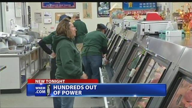 Hundreds without power