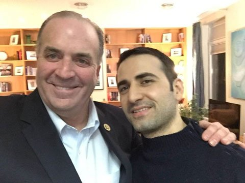 Amir Hekmati (right) poses with Rep. Dan Kildee (left). Photo courtesy: Dan Kildee