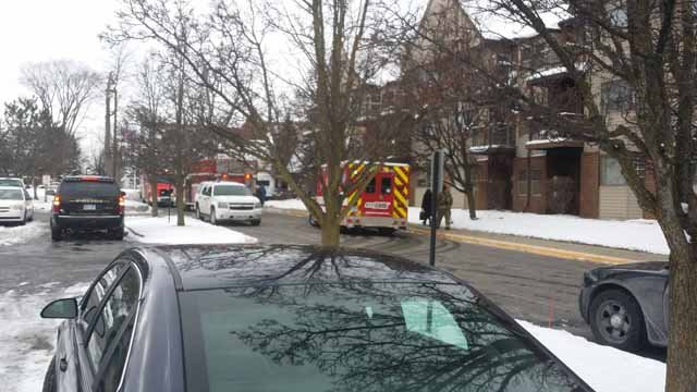 Fire at Court Street Commons. Source: WNEM