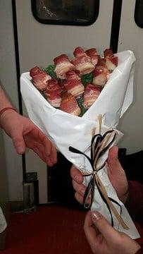 Bacon bouquet. Source: LaLondes Market Facebook page