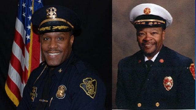 Chief Tolbert, Chief Cox. Source: City of Flint
