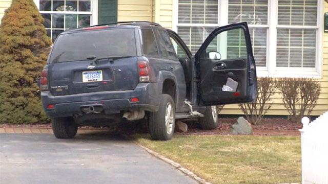 A vehicle crashed into a house on Feb. 23. (Source: WNEM)