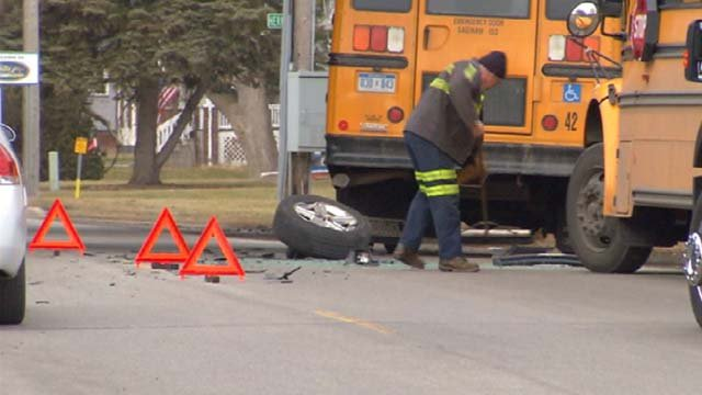 A Saginaw ISD bus was involved in the crash. (Source: WNEM)